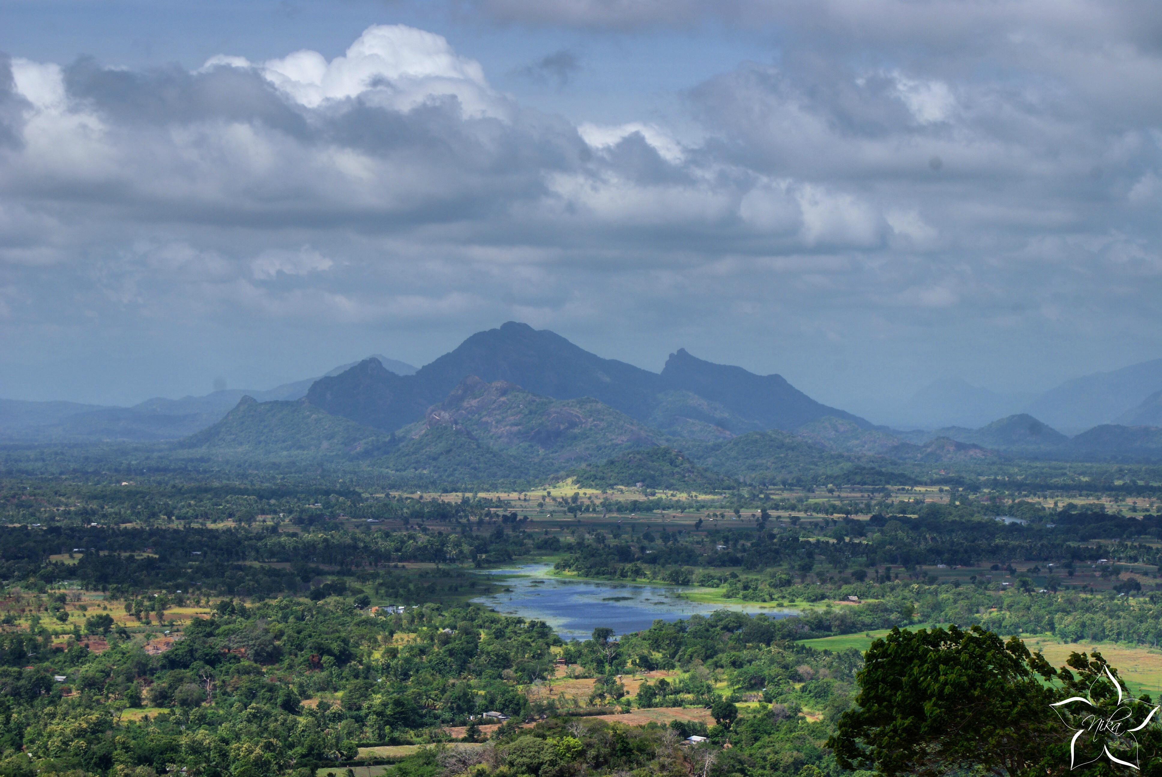 Sri Lanka Sigiriya výhľad z Lion Rock
