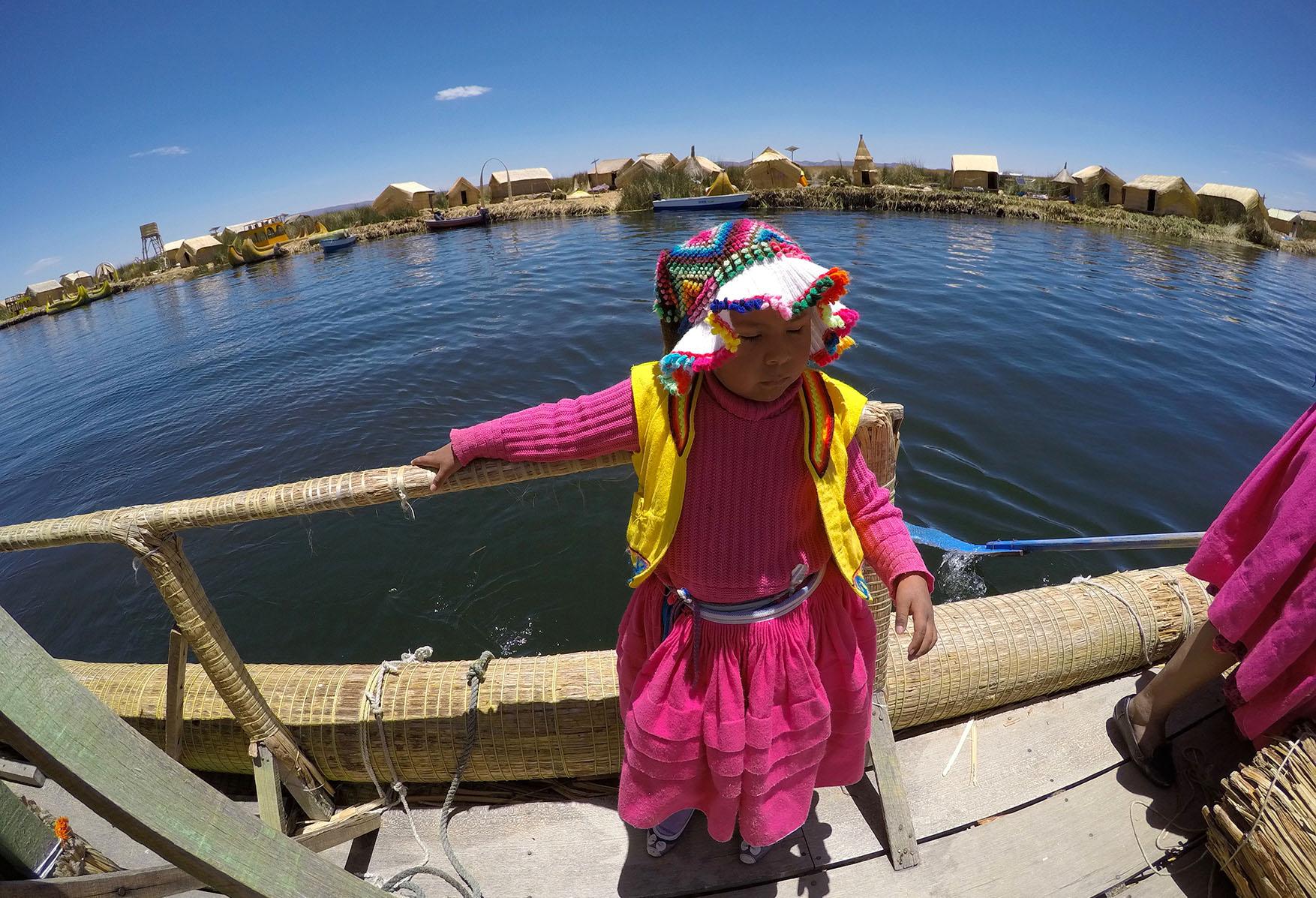 peruanske dievca titicaca peru