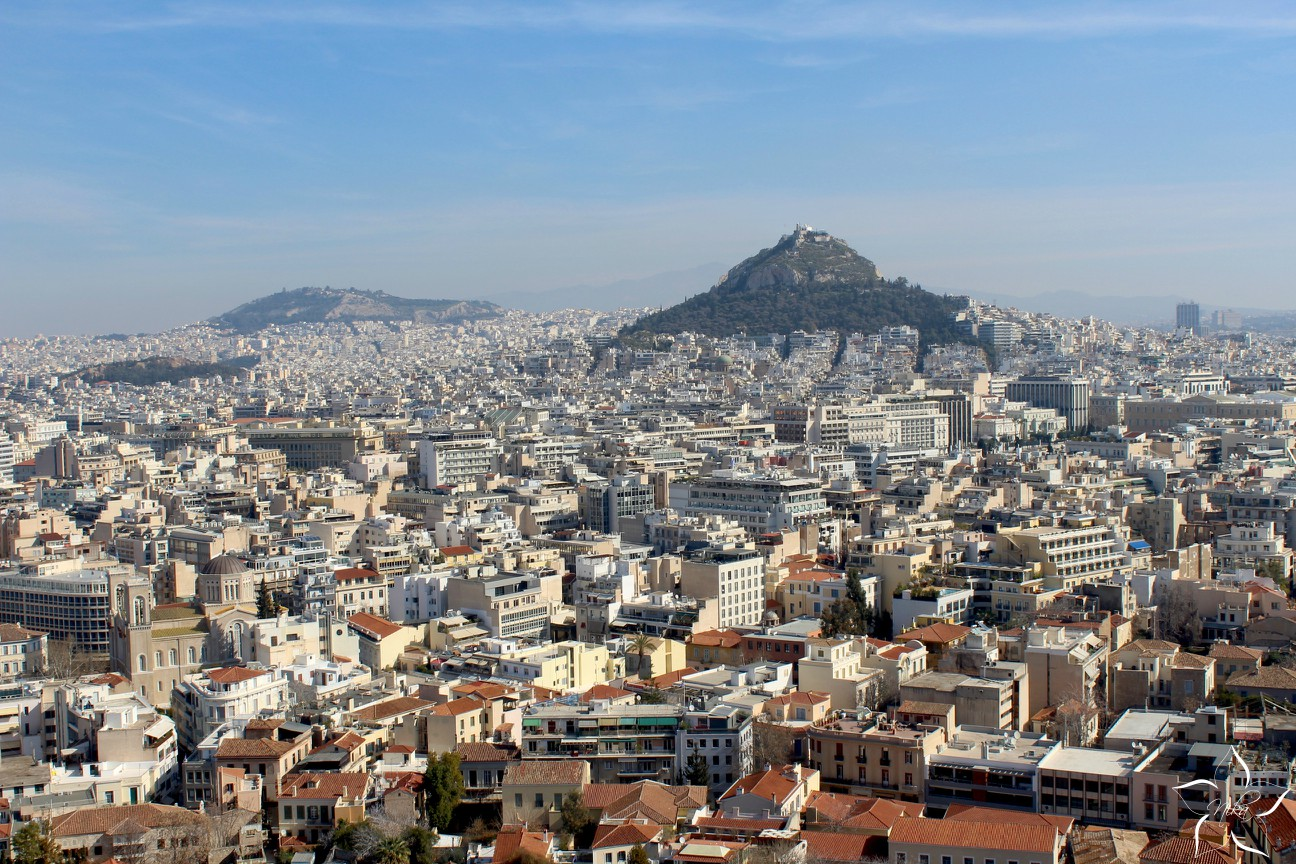 ateny grecko cele mesto