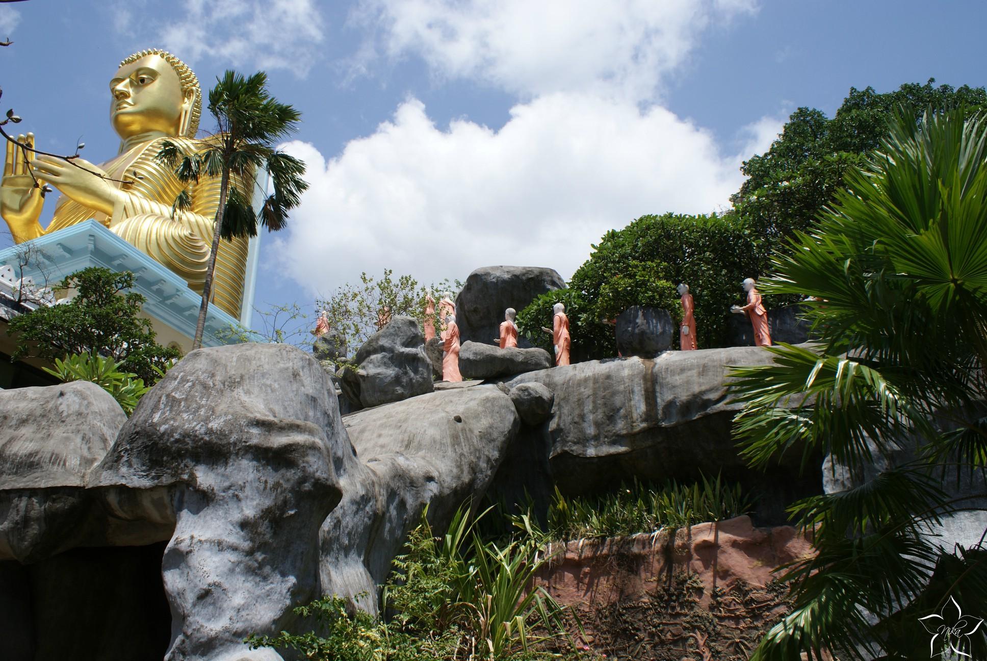 buddha sri lanka dambulla chram