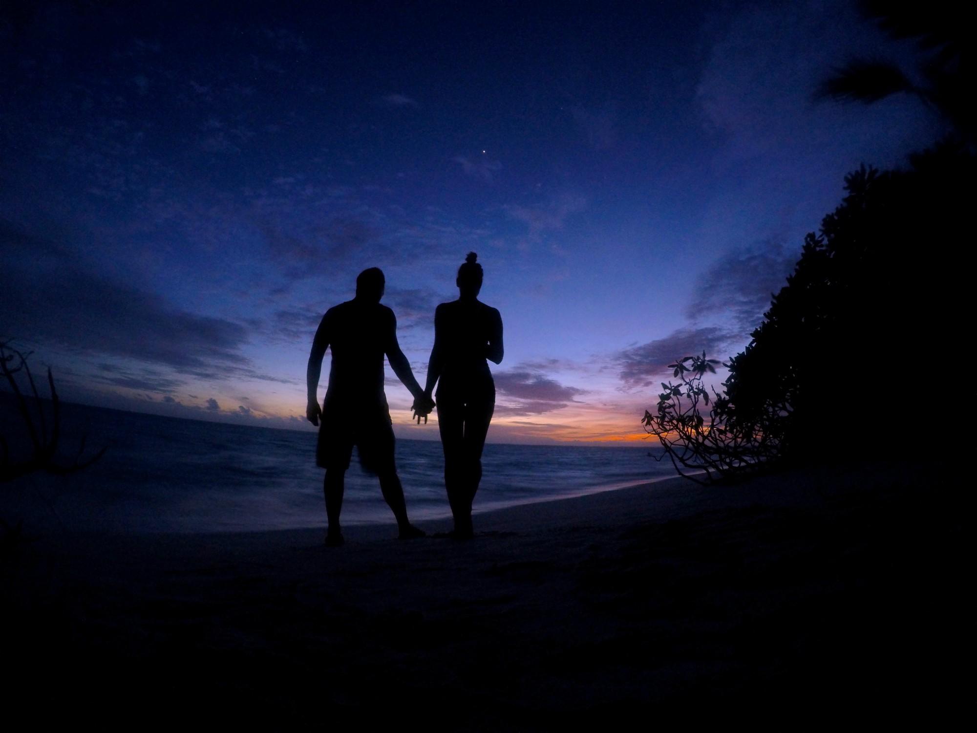Zapad slnka na maldivach