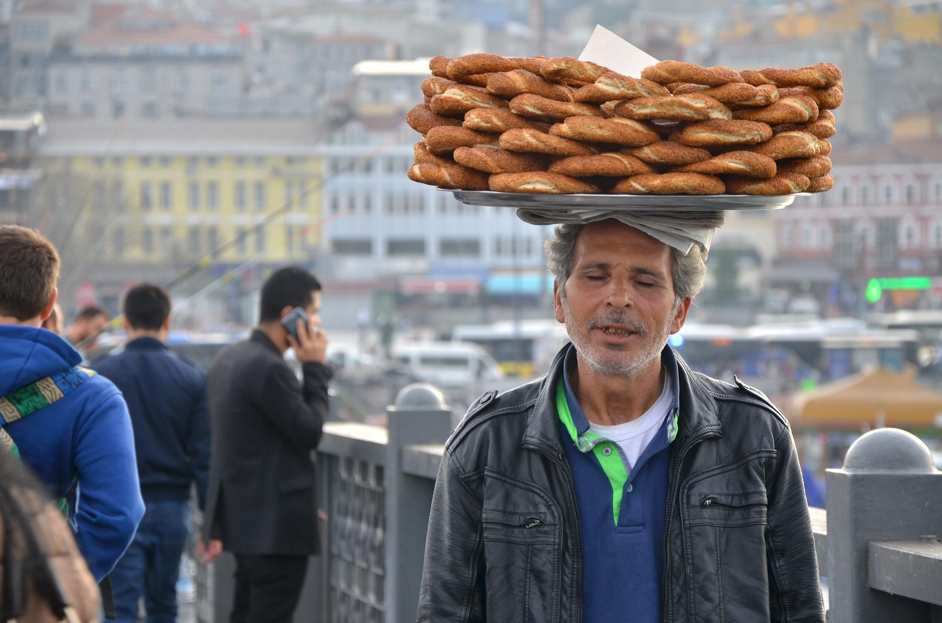 Turecká kuchyňa - sezamový praclík simit
