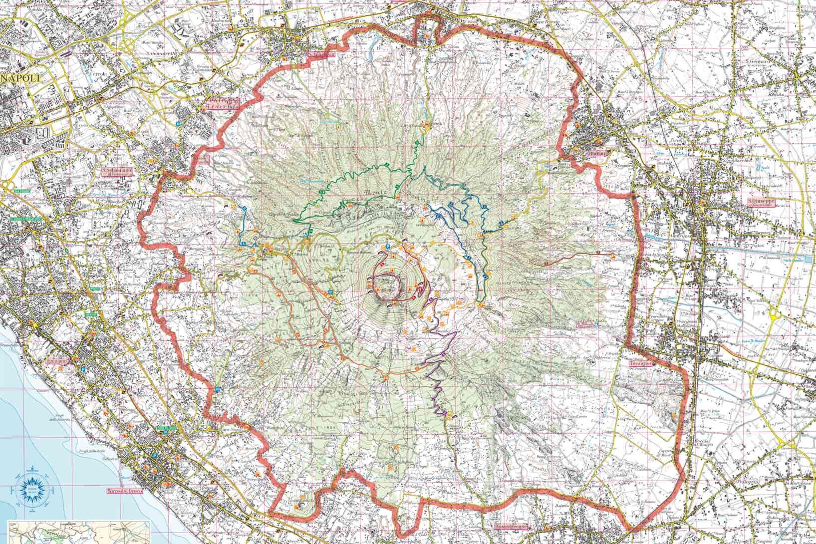 Z Neapolu na Vezuv - mapa