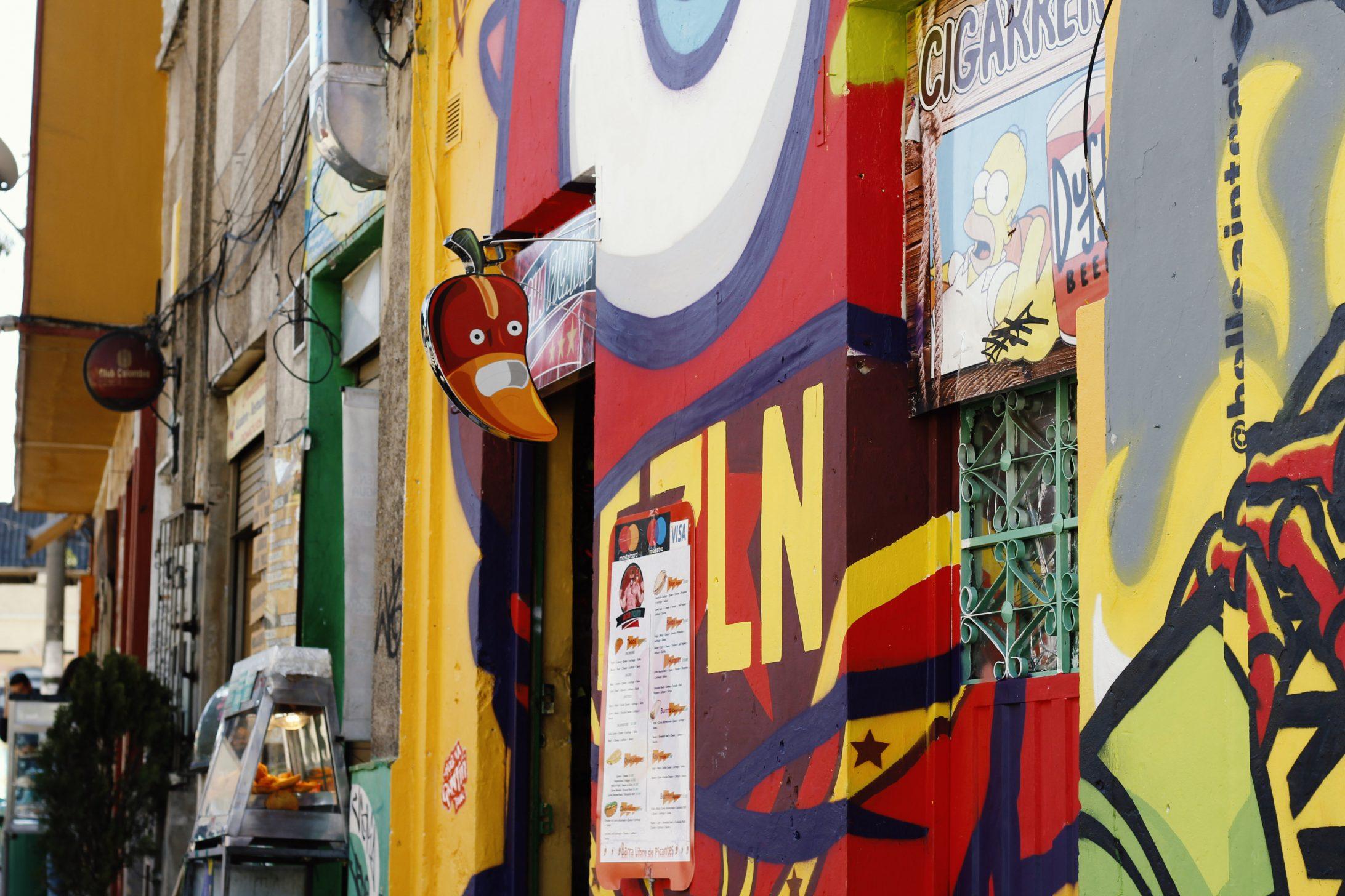 Čo vidieť v Bogote? Graffiti tour