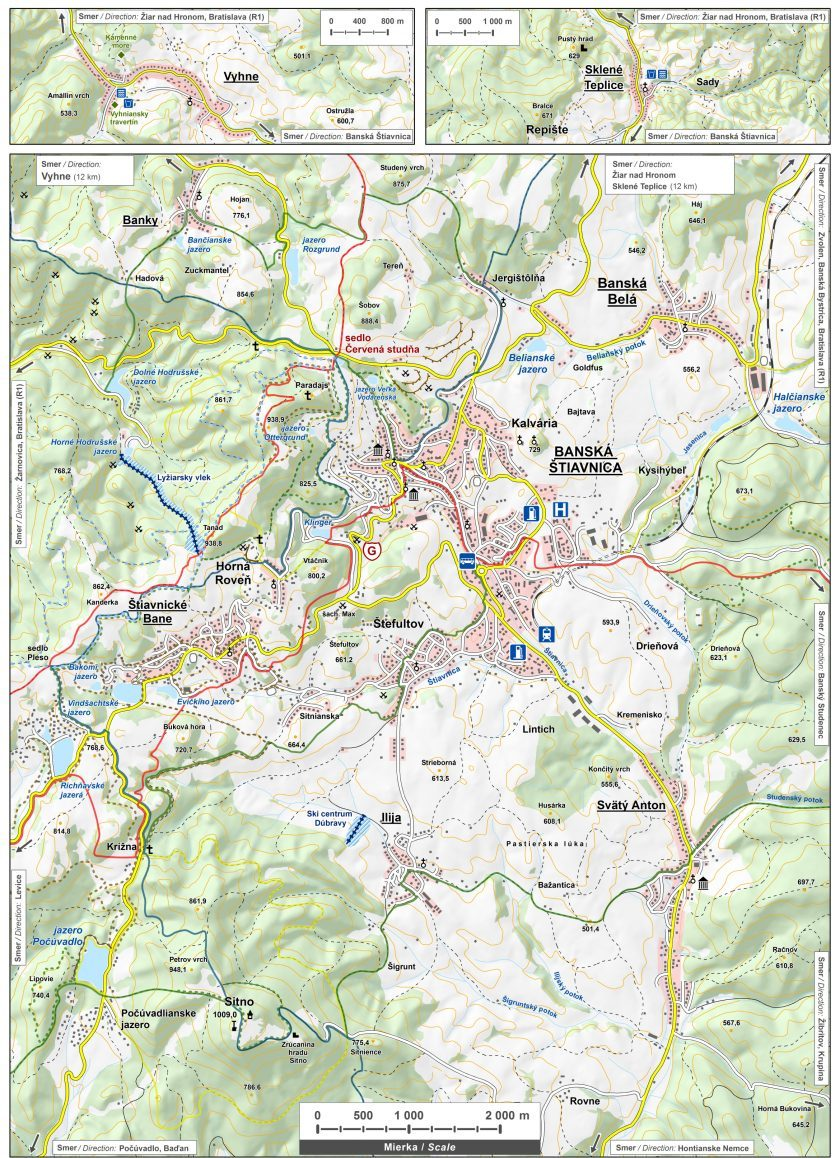 Turistická mapa Banska Štiavnica
