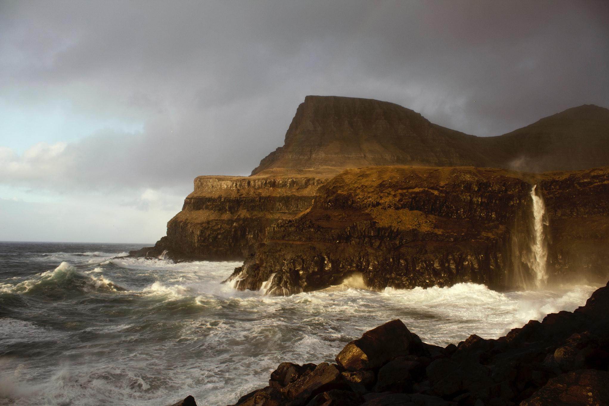Gasadalur - ostrov Vágar - Faerské ostrovy