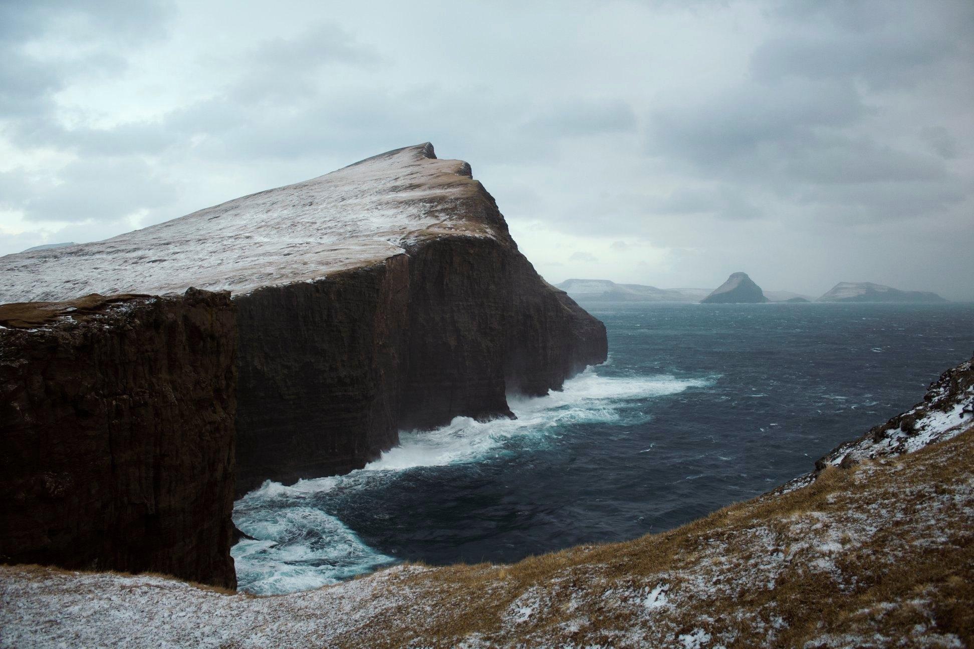 Ostrov Vagar - Faerské ostrovy - Útes otrokov - Bøsdalafossur